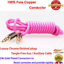 Premium Zinc Aux Cable Stereo Audio Extension 3.5mm Input Cord Male to Male 1M