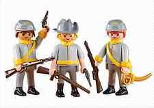 Playmobil Western West Rif 6276 Soldati Confederato, Cowboy, sudisti,, NUOVO