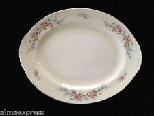 "Homer Laughlin China FERNDALE N1577 Eggshell Nautilus 13"" OVAL SERVING PLATTER"