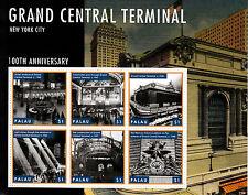 Palau 2013 MNH Grand Central Terminal 6v M/S New York City 100th Anniversary