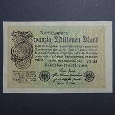 A WOW Banknote : 20 Millionen Mark (nicht im Rosenberg) OHNE  Kn !  - UNIKAT ?