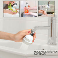 360° Rotating Faucet Movable Kitchen Tap Head Water Saving Nozzle Sprayer 3-Mode