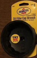 Pennzoil Oil Filter Cap Wrench -  74/ 76 mm 15 Flutes Code B for Car-Truck