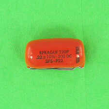 Sprague 220P Polyester Capacitor .22 uf 200V DC 10% Radial Lead VDC Pre-Tested