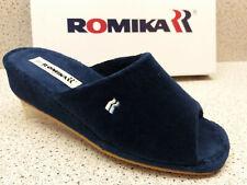 "Romika ® reduziert Hausschuhe blau Frottee  "" Paris "" (531)"