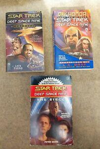 Star Trek: Deep Space Nine. 3 Paperbacks Book Set.