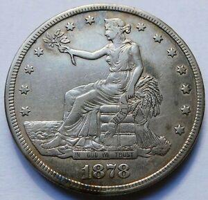 1878-S Trade Silver Dollar - VF, San Francisco $1