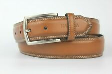 """Nautica Brown Tan Coated Leather Belt Size 34"""" 85cm"""