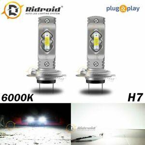 White H7 LED Headlight Bulb Kit High Low Beam Fog Light 80W 6000K Bulbs US