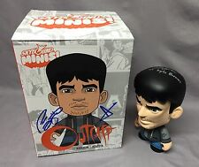 "Patrick Fugit SIGNED Outcast Kyle Barnes 8"" Vinyl Figure PHOTO PROOF Skybound x2"