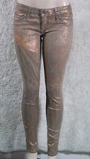 New Women's Robin's Jean Skinny Stretch SZ 29 Gold Copper USA