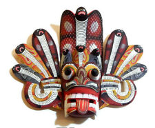 """Perfectly Hand Carved Wood Wall Hanging Cobra Mask 12"""" For Harmony & Protection!"""