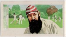 W. G. Grace English Amateur Cricketer Bowler Wickets Champ Vintage Trade Ad Card