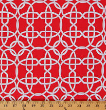 Cotton Wicker White Wicker Design on Red Cotton Fabric Print by Yard D479.27