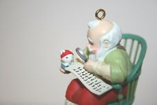 Carlton Cards Ornament - Checkin' It Twice - Santa and Mouse with List - 1990