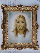 Gemälde von Carlo Parisi Jesus Christus Wandbild Bild mit Rahmen BAROCK 56x46cm