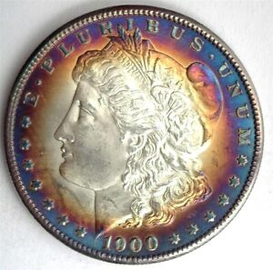 1900-S MORGAN SILVER DOLLAR GEM+ UNCIRCULATED+ AMAZING TONING!! SCARCE!!