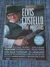 Elvis Costello 2011 The Revolver Repro Tour POSTER