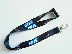 Nurse Lanyard fuse Neck Strap for Keys ID Card Holder - Black W 20mm, L 45cm