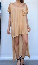 Short Sleeve Solid Dresses Oversize