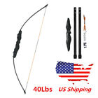 Black 51 inch 40 Lbs Straight Bow Archery For Shooting Practice Hunting US Stock
