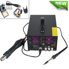 Free Soldering Station SMD Dc Power Supply Hot Air Iron Gun Rework Welding Tool