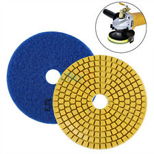 "4"" Wet/dry Diamond Polishing Pads Grinding Discs Granite Concrete Marble Stone E Granularity 50"