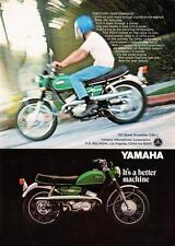 "1967 Yamaha 250 Street Scrambler Motorcycle photo ""Discover Performance"" Ad"