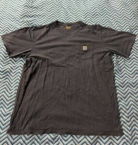 XXL Grey Carhartt T Shirt 2XL Oversize Tall Vintage Pocket