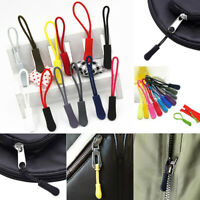 New 10pcs Replacement Zip Fastener End Fit Rope Plastic Zipper Puller Decor