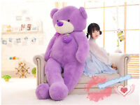 72in. Giant Huge Big Teddy Bear Plush Soft Toys Doll gift Stuffed Animals Purple