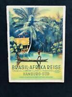 HAMBURG SUDAMERIKA America BRAZIL AFRICA CRUISE Art Deco STEAMSHIP BOOK, 1936