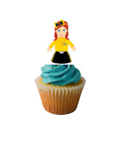 Emma wiggle Rice paper Edible Image Cupcake ToppersStand up Wafer paper #1