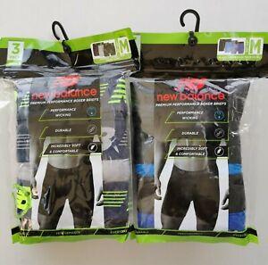 6 Pack New Balance Mens Premium Performance Quick Dry Boxer Briefs size S XL