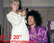 "Jimi Hendrix~Hair Salon~Spa~Barber~Photo #2~Decor~Stylist~Poster~16"" x 20"""