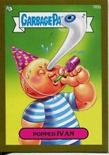 Garbage Pail Kids Mini Cards 2013 Gold Parallel Base Card 185b Popped IVAN