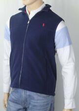 POLO Ralph Lauren Navy Blue Fleece Vest Red Pony NWT