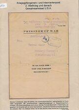 K520) prigionieri di guerra posta BRF Africa (allo storico. > USA...) > Amburgo