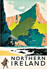 Art Ad Northern Ireland  Travel Deco  Poster Print