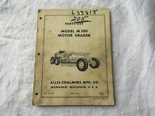 Allis-Chalmers M100 motor grader parts catalog manual