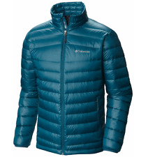 COLUMBIA Mens sz SMALL Platinum 860 TurboDown Down Jacket Winter Coat Deep Water