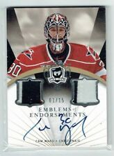 07-08 UD The Cup Emblems of Endorsements  Cam Ward  1/15 First Card Auto Patches