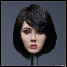 1/6 YMtoys Action Figure Accessory Asian Female Short Hair Head Sculpt Xiu B Ver