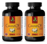 Coconut Oil Softgels - Extra Virgin 3000mg - Coconut Oil for Skin - 2 Bottles