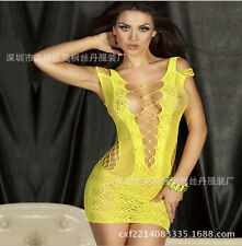 Women Sexy Fishnet Body Stocking Lingerie Nets Clothing sexy club Dress M VX36