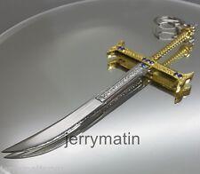 Night One Piece Dracule Mihawk cross Sword metal key chain zoro Anime Toy knife