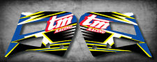 TM 125 250 300 Radiator stickers SHARP STYLE tank graphics