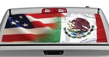 Truck Rear Window Decal Graphic [Patriotic / American-Mexico] 20x65in DC24103