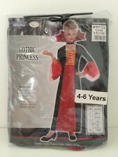 Gothic Princess Fancy Dress Up Costume 4 6 Years Kids World Book Day NEW