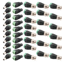 40X BNC Video Balun +Male Female DC Power Jack Plug Connector Adapter For CCTV W